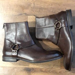 Men's Sam Harness Boots Size 11 Brown New Unbox